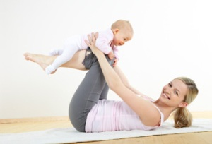 Mommy & Baby Exercises: Leg Lifts