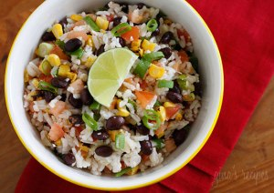 Fiesta Lime Rice- Photo Courtesy of SkinnyTaste.com